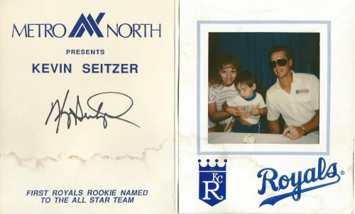 Waited in line with the oldest for 2.5 hours, 8 months pregnant, to get an autograph that he wanted. He shyed out. (1988)